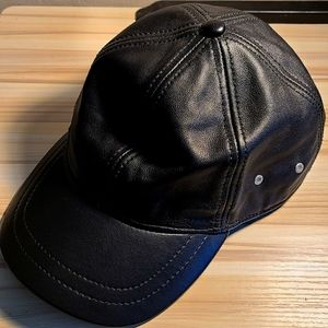 100% real leather hat